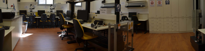צילום פנורמי של מעבדת מוצקים (חוזק חומרים) - המחלקה להנדסת מכונות