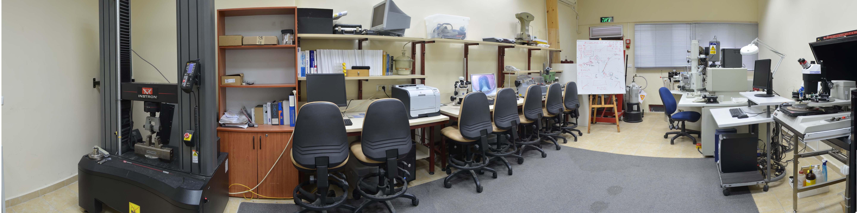צילום פנורמי של מעבדת ואן ליר sem - המחלקה להנדסת חומרים מתקדמים