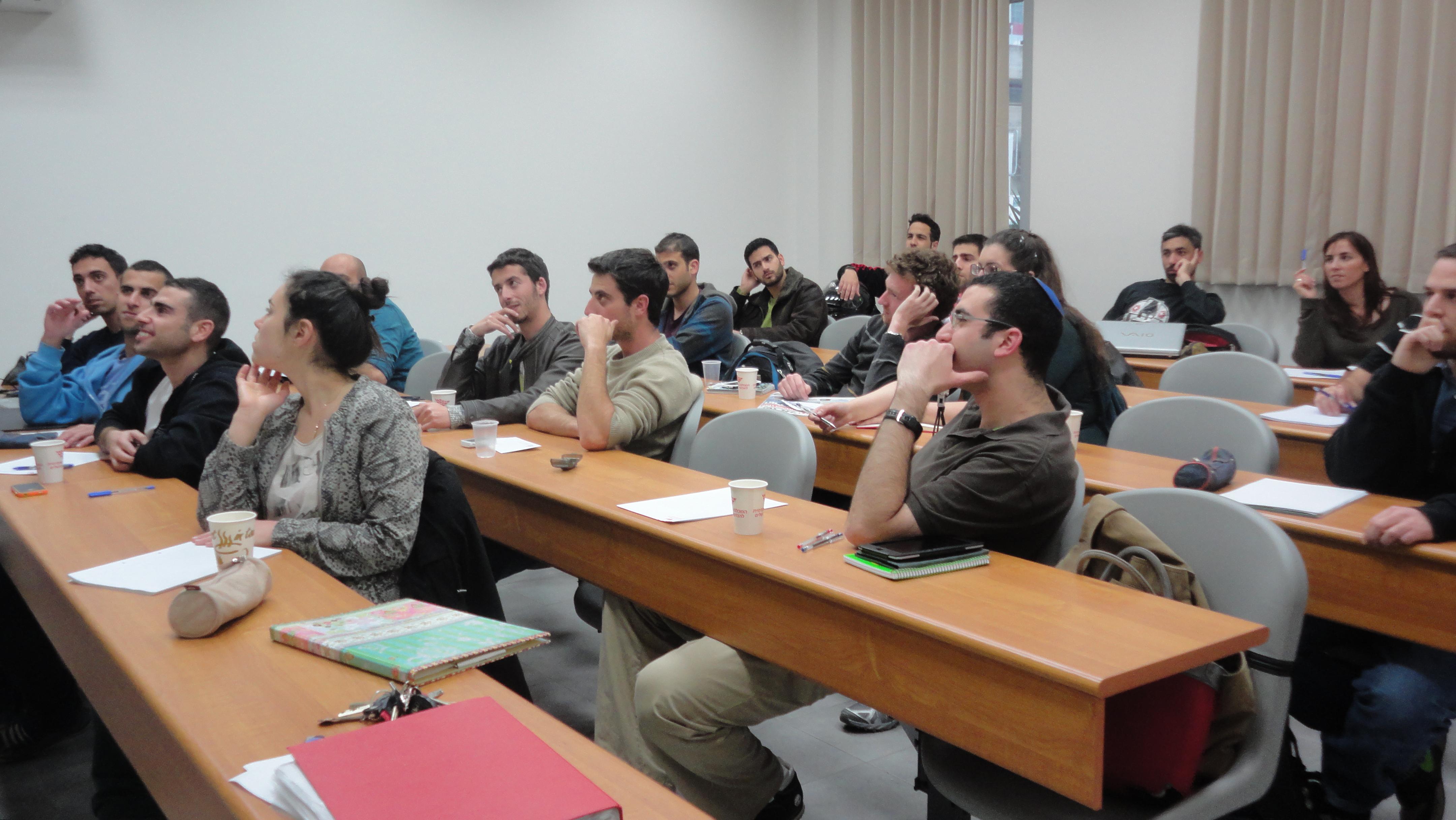 סטודנטים בהרצאה
