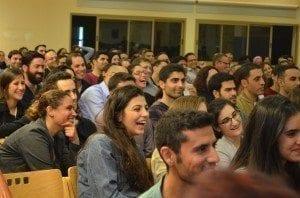 הקהל בהרצאה