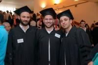 3 בוגרים בקבלת הפנים בטקס הענקת תארים 2014