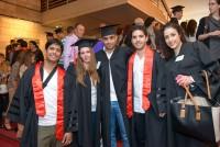 5 בוגרים בקבלת הפנים בטקס הענקת תארים 2014
