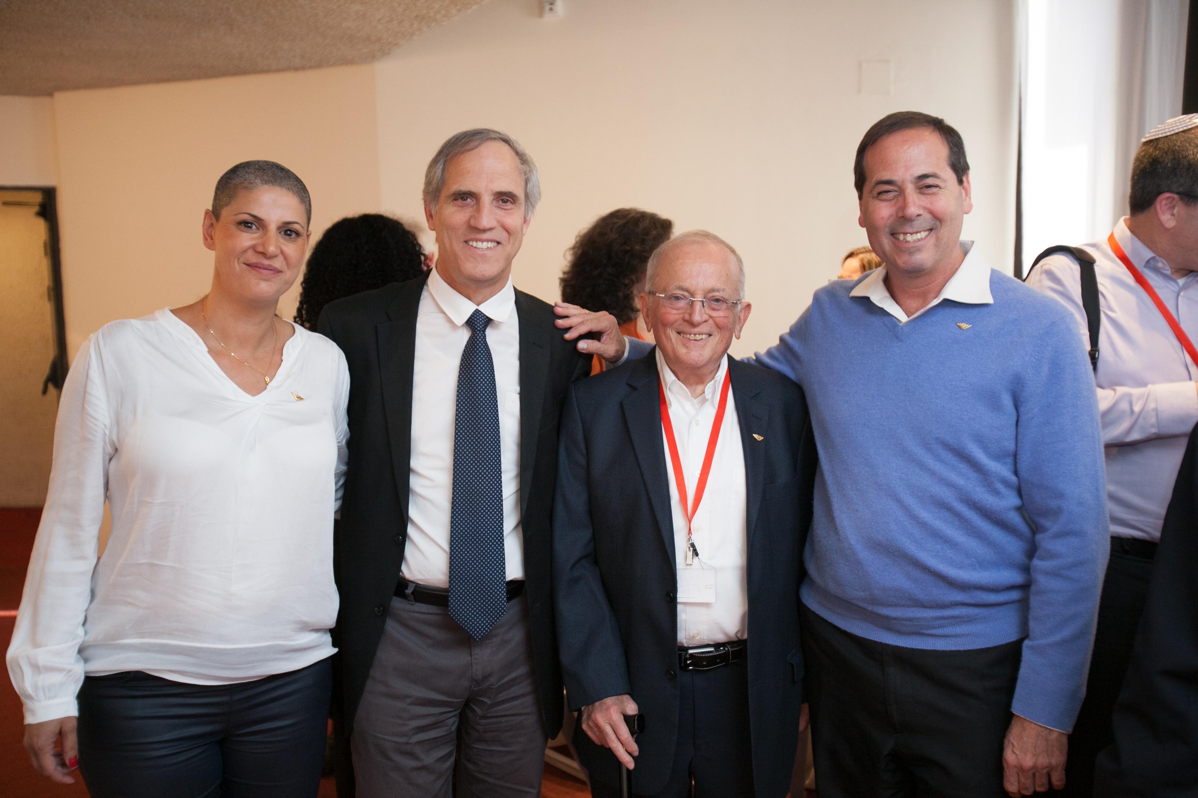 אמיר אלשטיין, עוזי וכסלר, פרופ אבי דומב ושלומציון לולו בטקס קבלת הפנים