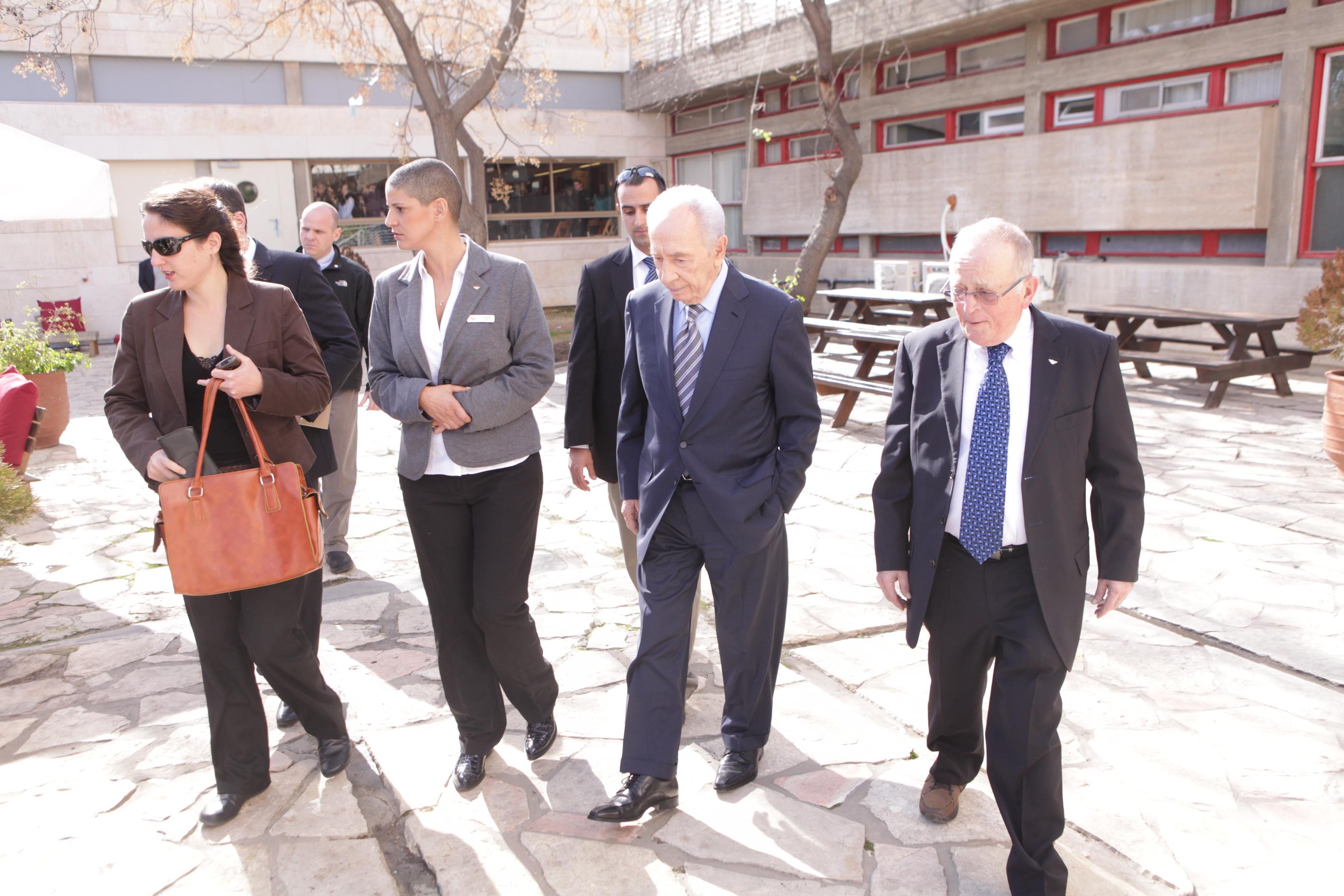 ביקור נשיא המדינה לשעבר - מר שמעון פרס